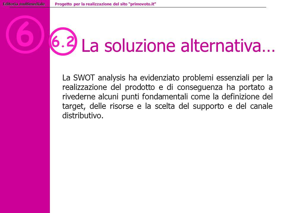 6 La soluzione alternativa… 6.2