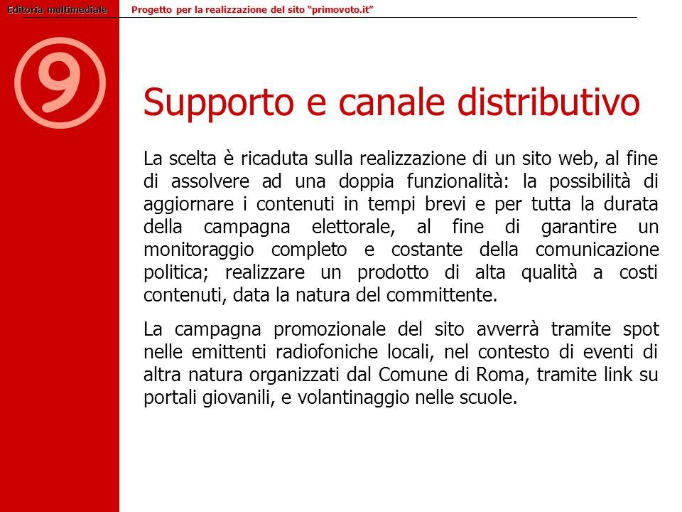 9 Supporto e canale distributivo