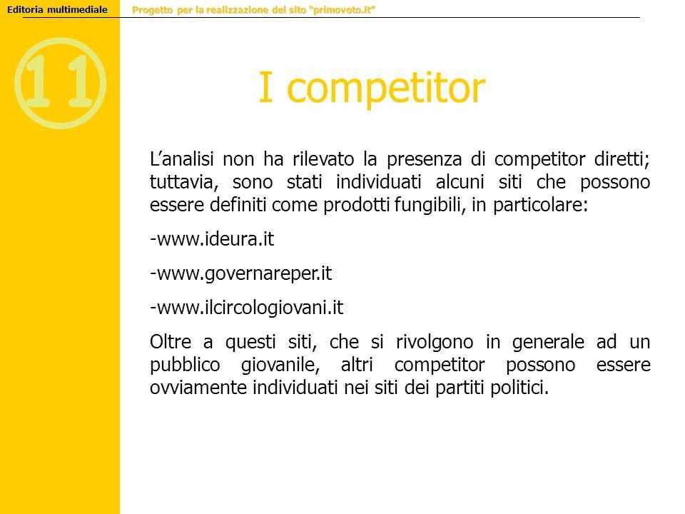 Editoria multimediale Progetto per la realizzazione del sito primovoto.it