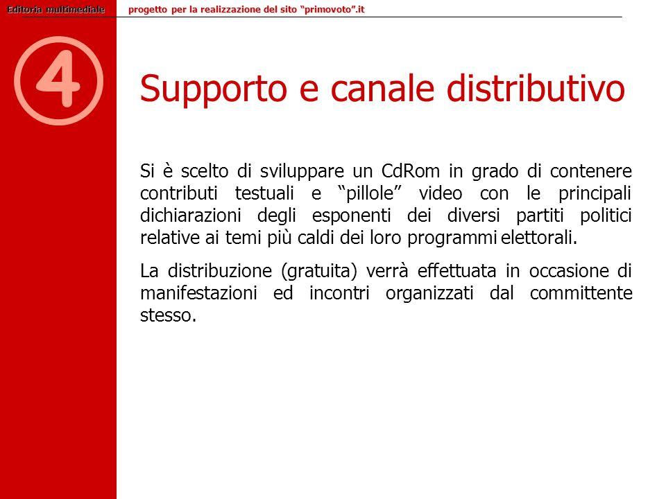 4 Supporto e canale distributivo