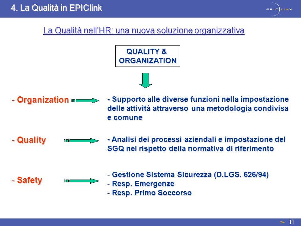 La Qualità nell'HR: una nuova soluzione organizzativa