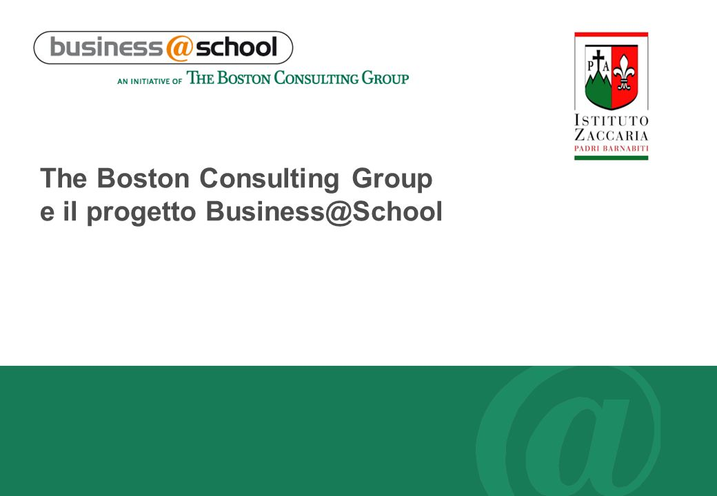 The Boston Consulting Group e il progetto Business@School