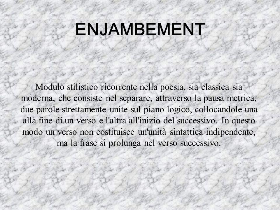 ENJAMBEMENT