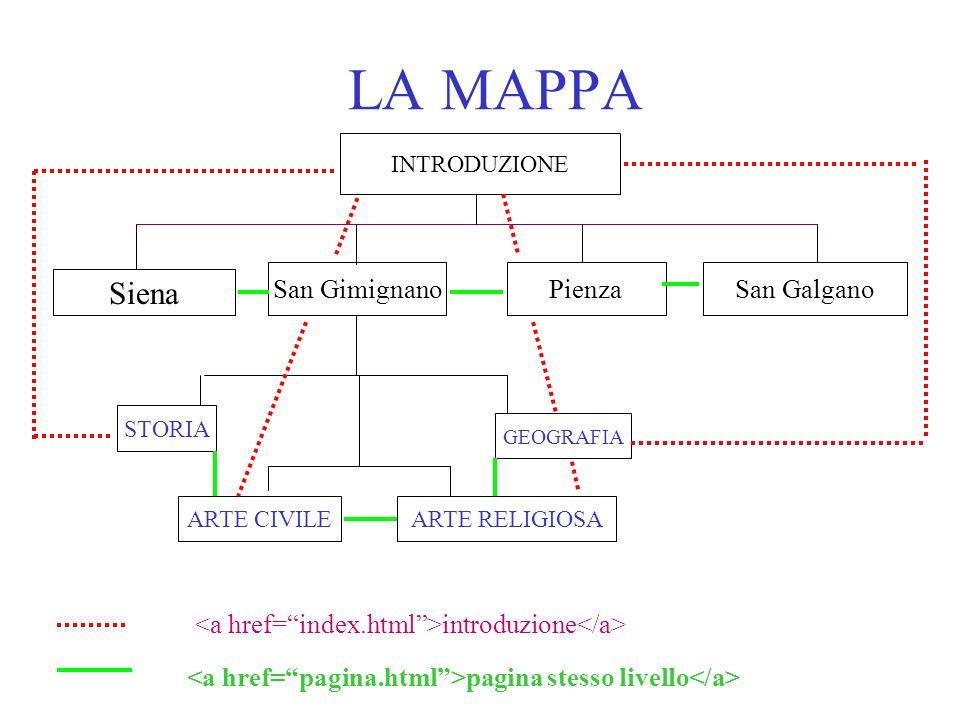 LA MAPPA Siena San Gimignano Pienza San Galgano