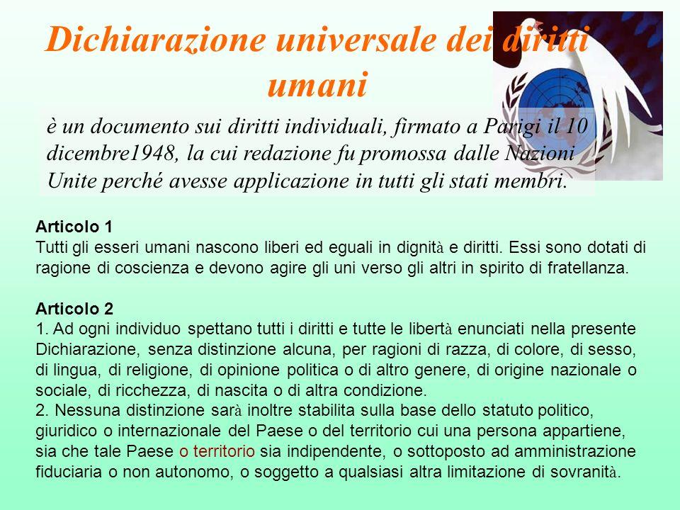 Dichiarazione universale dei diritti umani
