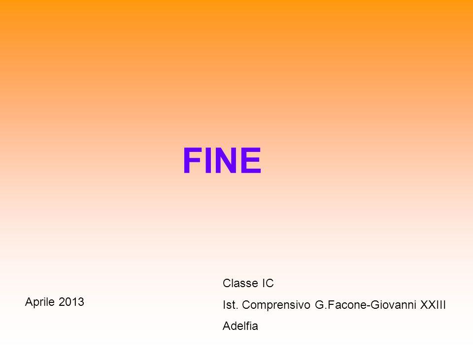 FINE Classe IC Ist. Comprensivo G.Facone-Giovanni XXIII Aprile 2013