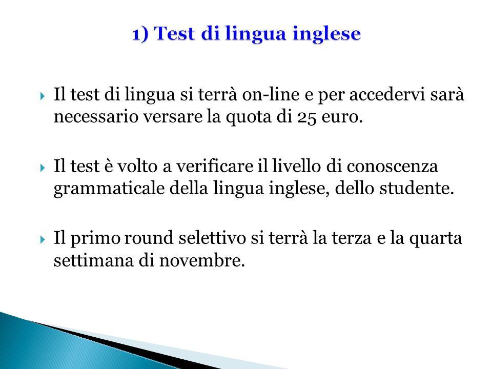 1) Test di lingua inglese