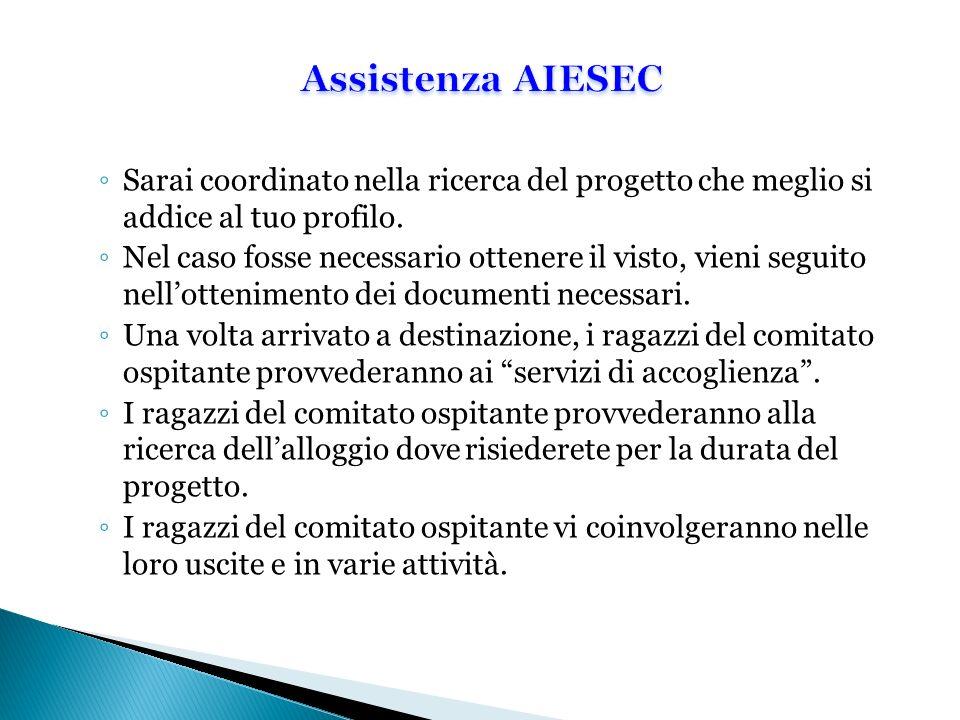 Assistenza AIESEC Sarai coordinato nella ricerca del progetto che meglio si addice al tuo profilo.