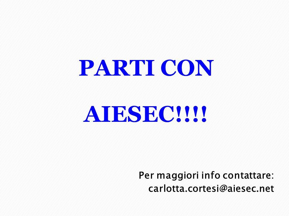 PARTI CON AIESEC!!!! Per maggiori info contattare: