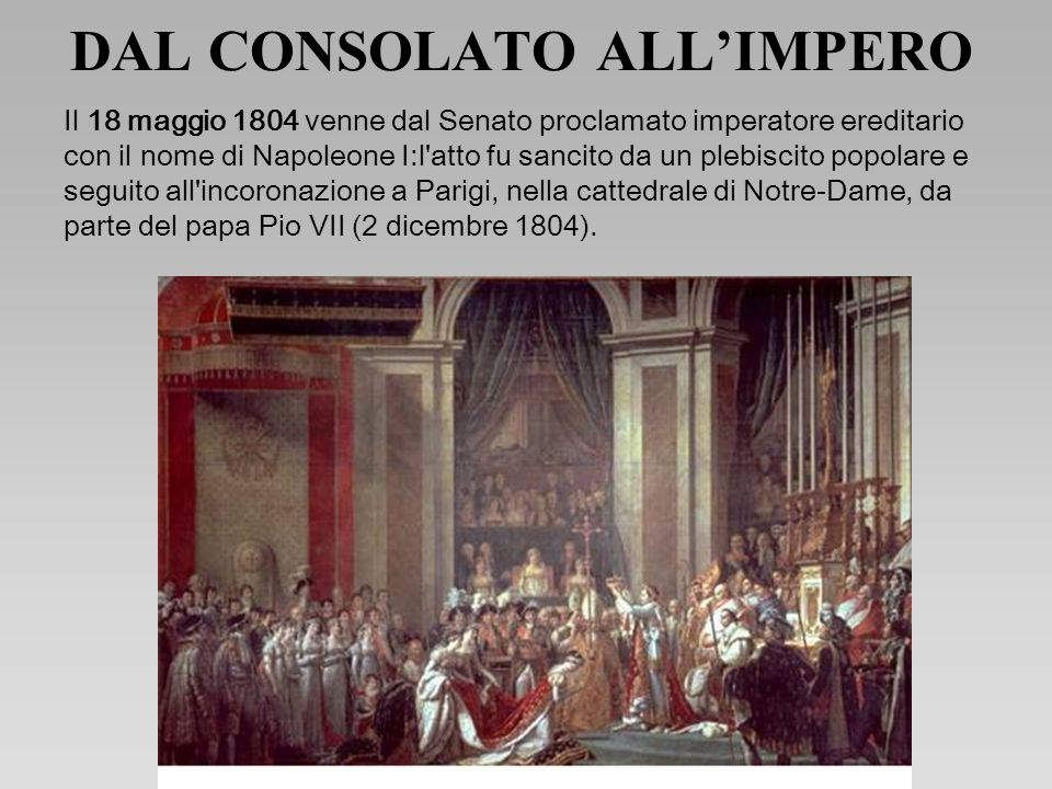 DAL CONSOLATO ALL'IMPERO