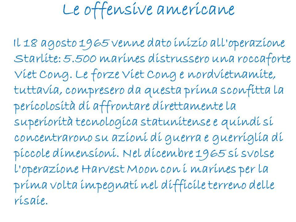 Le offensive americane