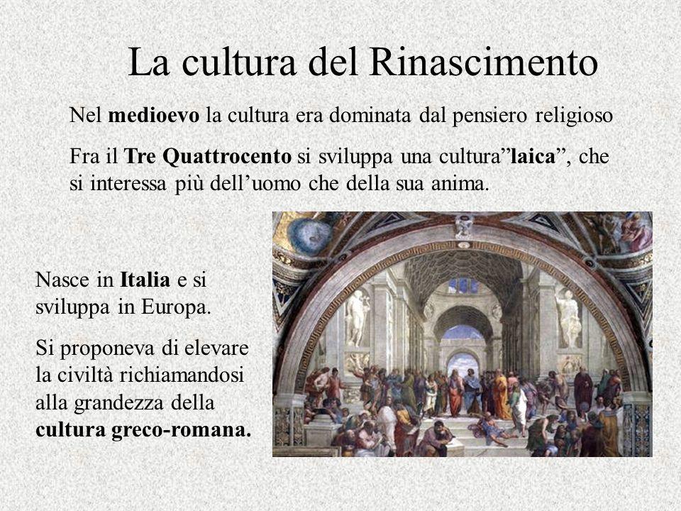 La cultura del Rinascimento