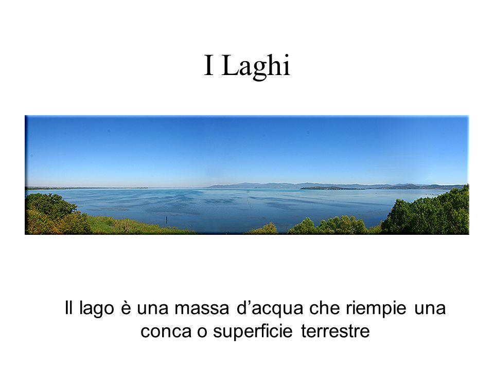 I Laghi Il lago è una massa d'acqua che riempie una conca o superficie terrestre