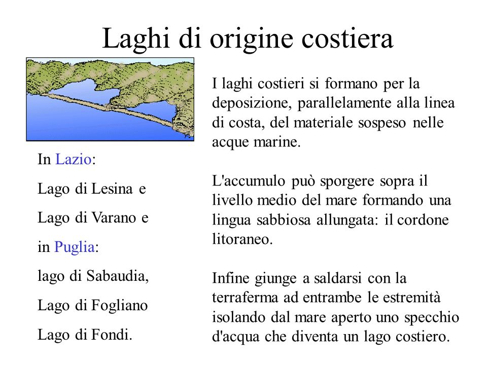 Laghi di origine costiera