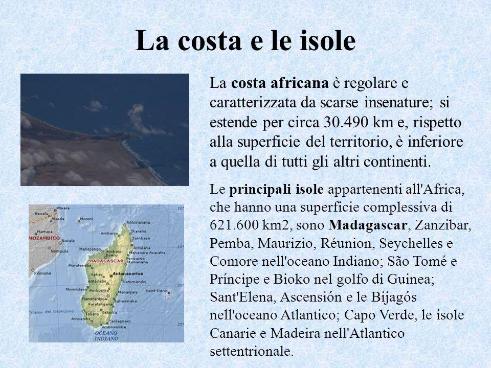 La costa e le isole