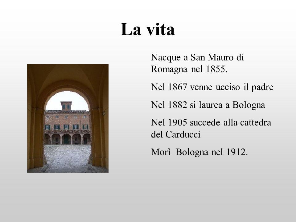 La vita Nacque a San Mauro di Romagna nel 1855.