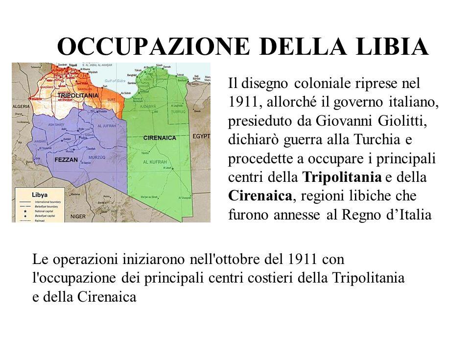 OCCUPAZIONE DELLA LIBIA