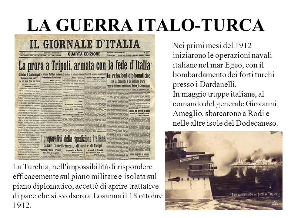 LA GUERRA ITALO-TURCA