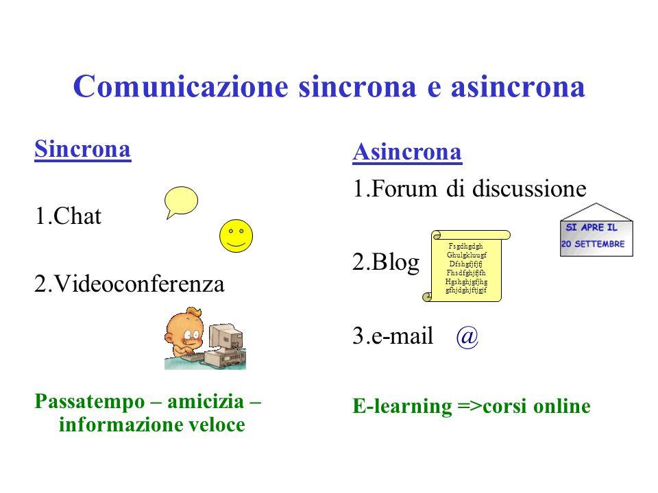 Comunicazione sincrona e asincrona