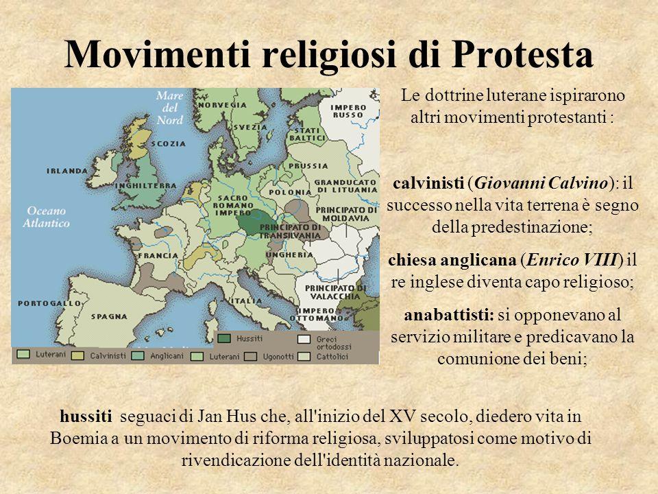 Movimenti religiosi di Protesta