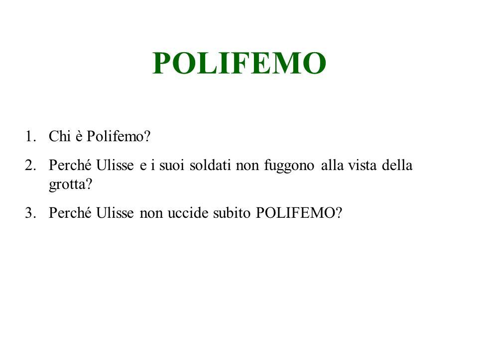 POLIFEMO Chi è Polifemo