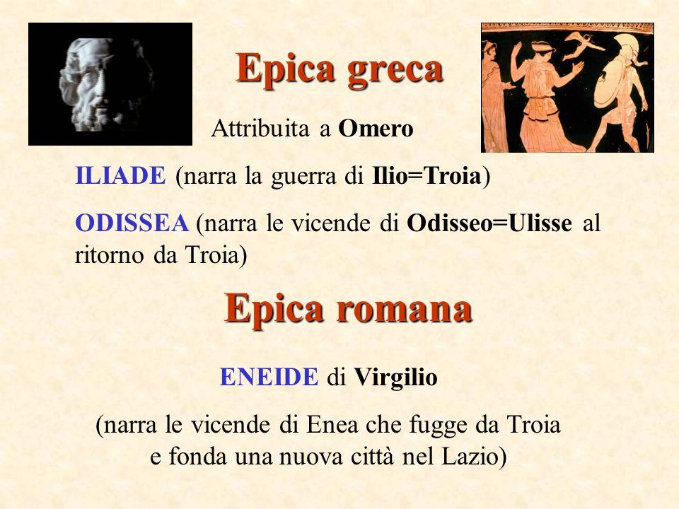Epica greca Epica romana