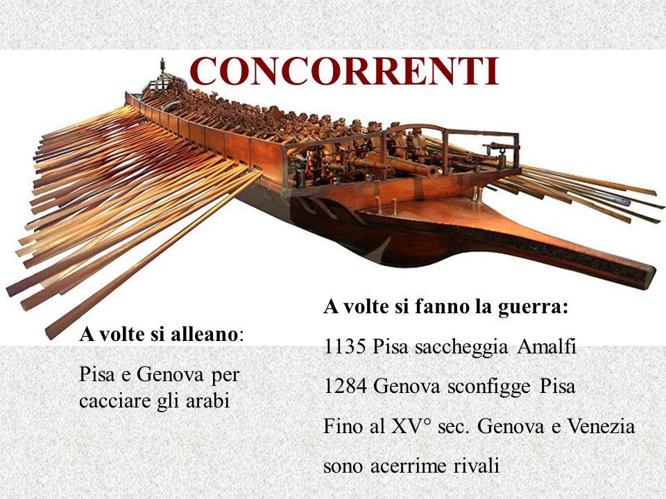CONCORRENTI A volte si fanno la guerra: 1135 Pisa saccheggia Amalfi
