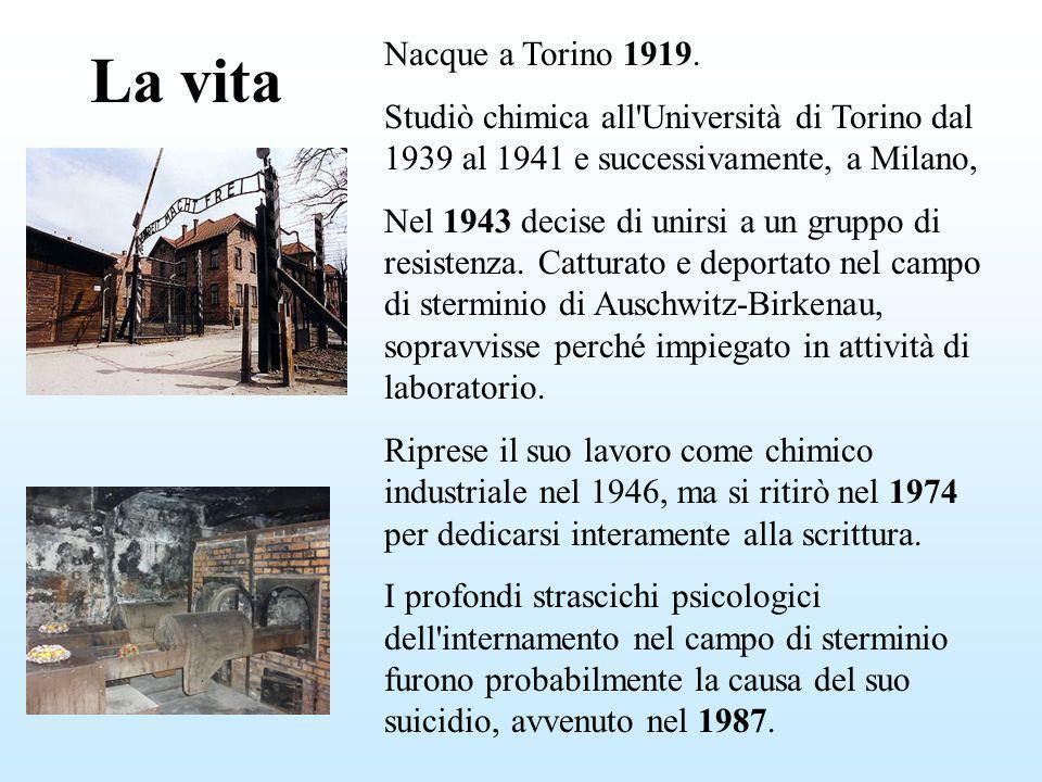 Nacque a Torino 1919. Studiò chimica all Università di Torino dal 1939 al 1941 e successivamente, a Milano,