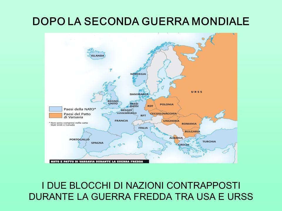DOPO LA SECONDA GUERRA MONDIALE