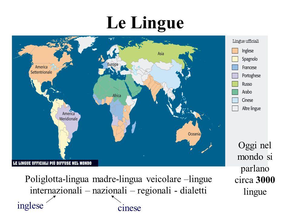 Oggi nel mondo si parlano circa 3000 lingue