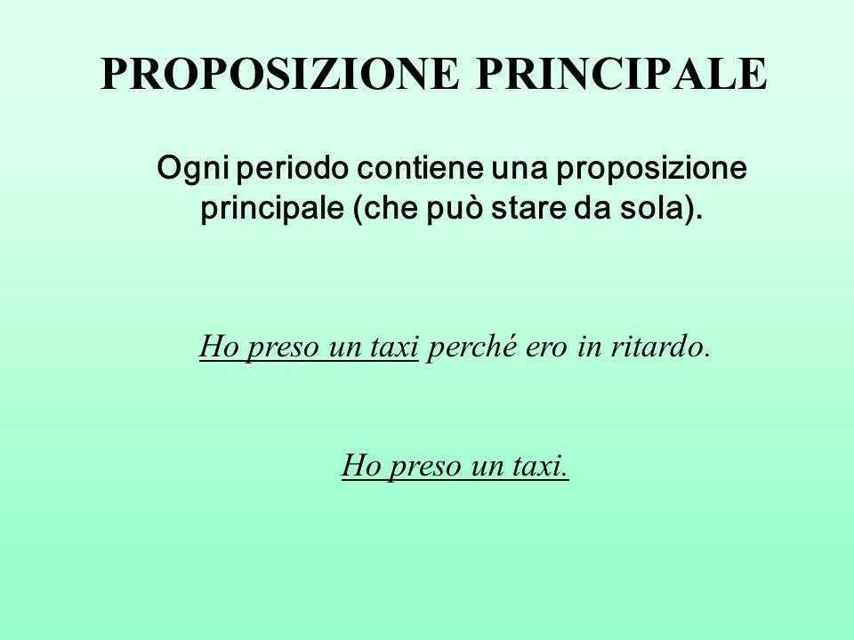 PROPOSIZIONE PRINCIPALE