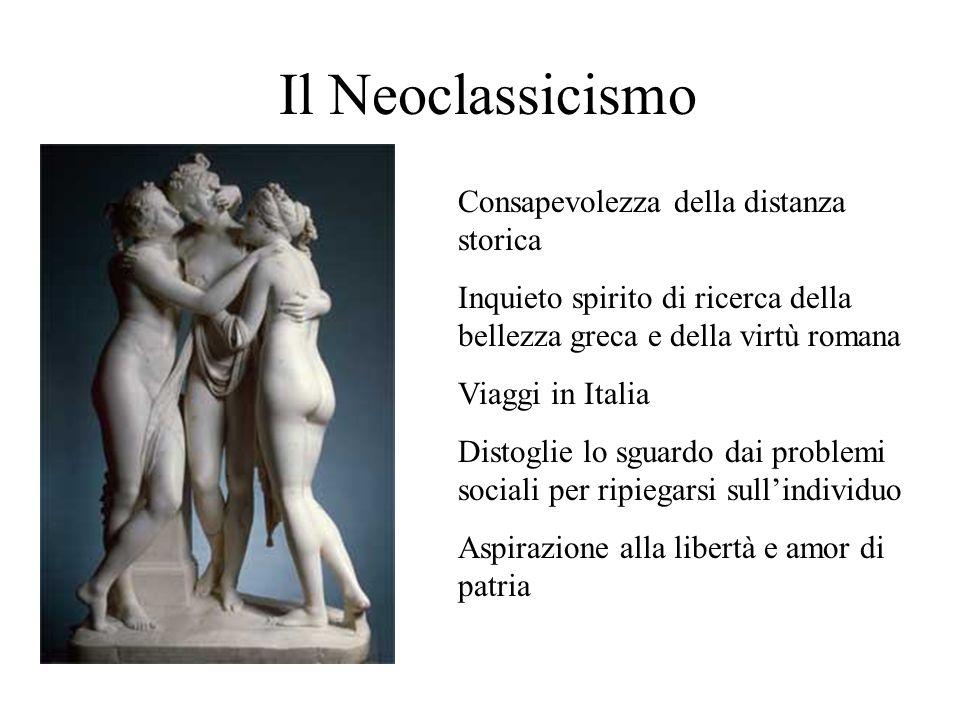 Il Neoclassicismo Consapevolezza della distanza storica