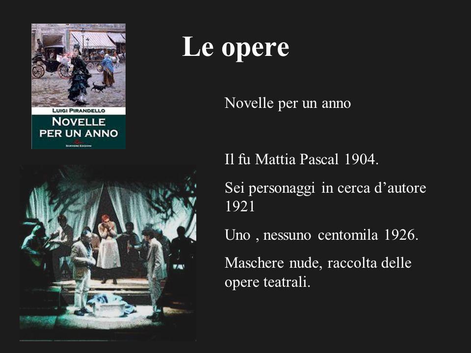 Le opere Novelle per un anno Il fu Mattia Pascal 1904.
