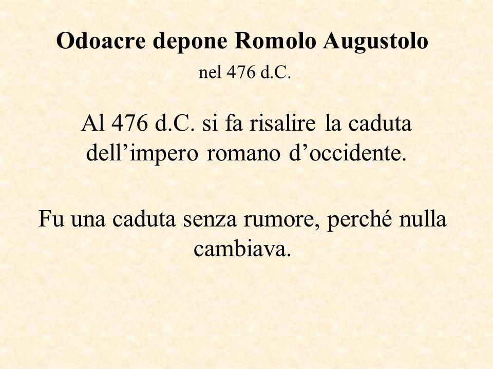 Odoacre depone Romolo Augustolo nel 476 d.C.