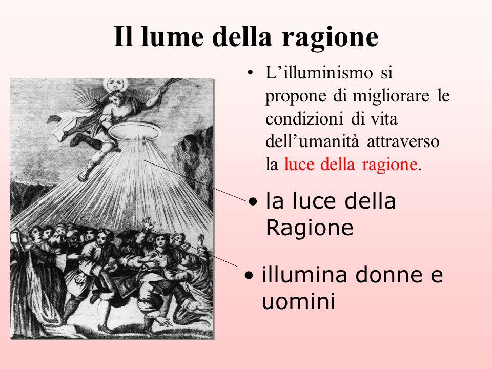 Il lume della ragione la luce della Ragione illumina donne e uomini