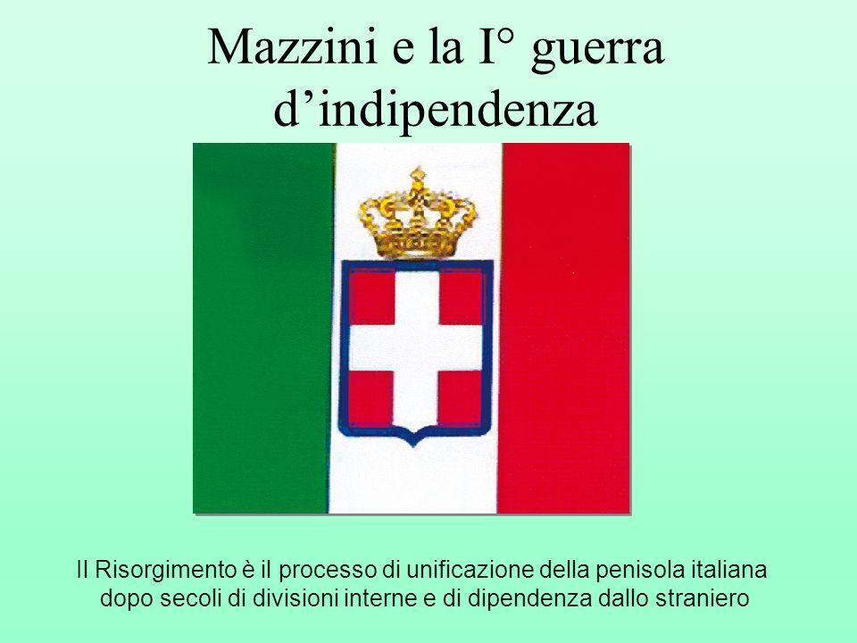 Mazzini e la I° guerra d'indipendenza