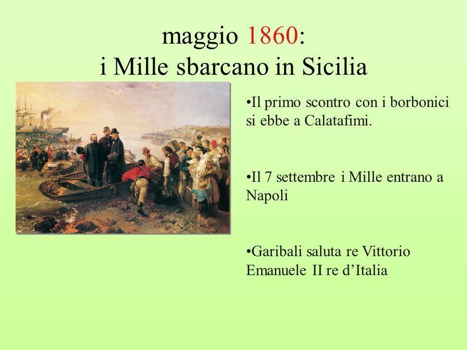 maggio 1860: i Mille sbarcano in Sicilia