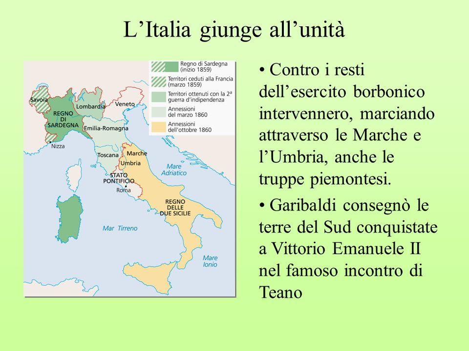 L'Italia giunge all'unità