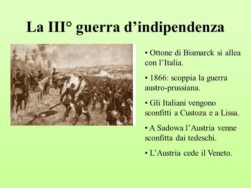 La III° guerra d'indipendenza