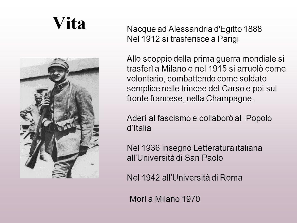 Vita Morì a Milano 1970 Nacque ad Alessandria d Egitto 1888
