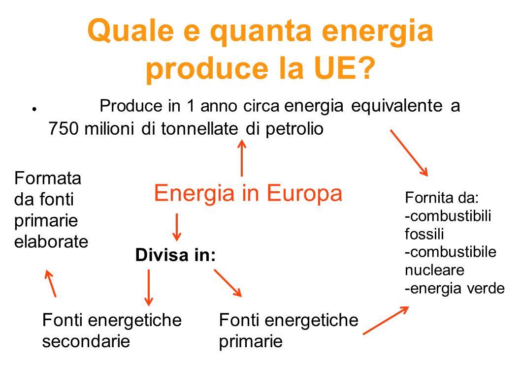 Quale e quanta energia produce la UE