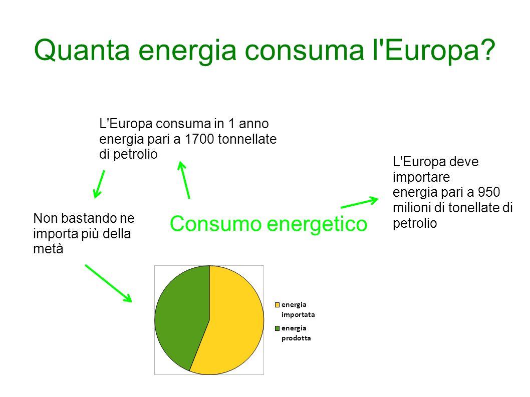 Quanta energia consuma l Europa