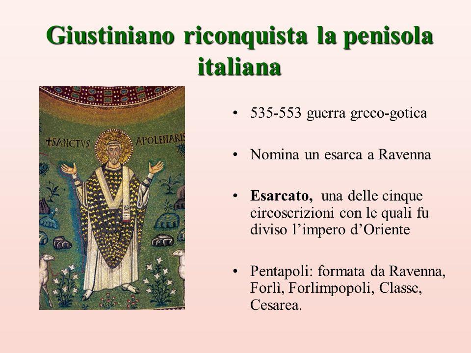 Giustiniano riconquista la penisola italiana