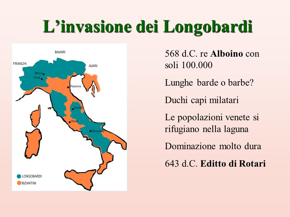 L'invasione dei Longobardi