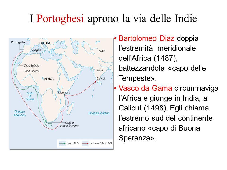 I Portoghesi aprono la via delle Indie