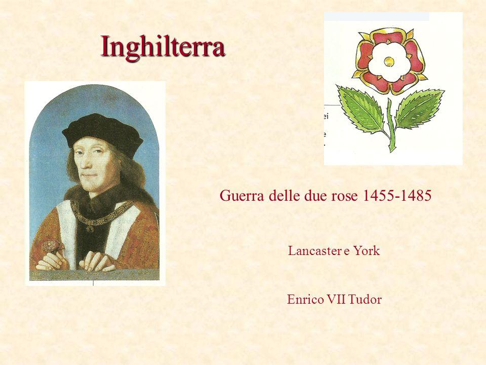 Inghilterra Guerra delle due rose 1455-1485 Lancaster e York