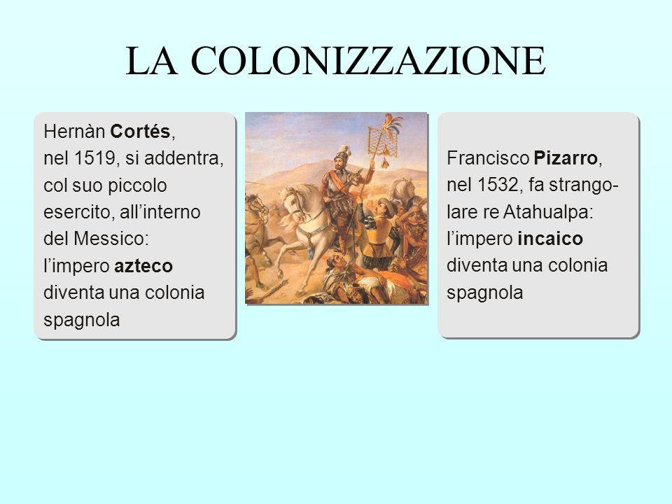 LA COLONIZZAZIONE Hernàn Cortés, nel 1519, si addentra,