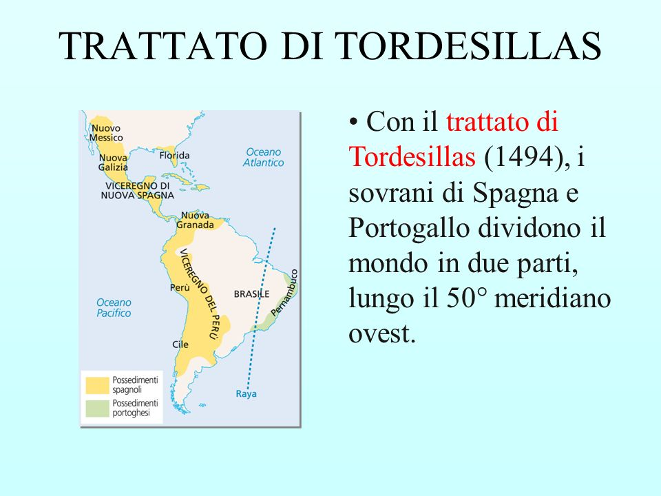 Trattato di tordesillas raya dating 5