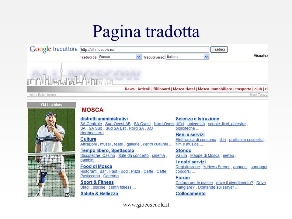 Pagina tradotta www.giocoscuola.it