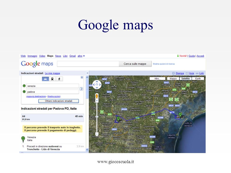 Google maps www.giocoscuola.it
